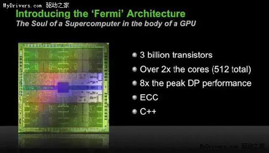 NVIDIA Fermi(GT300)通用计算架构探秘 样卡展示-Fermi,GT300,通用计算,高性能计算-驱动之家: http://news.mydrivers.com/1/145/145916.htm
