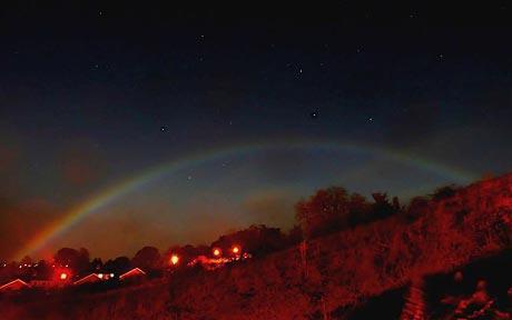 风景彩虹图片 微信