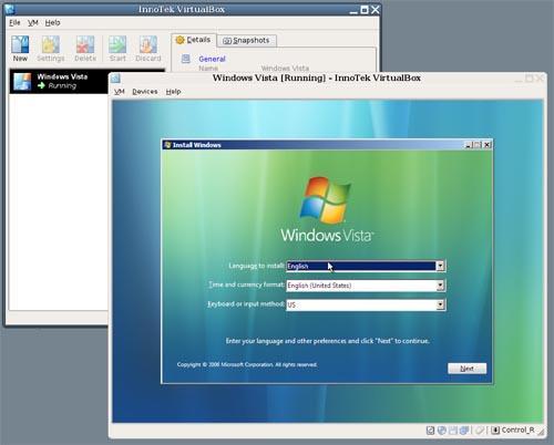 下载:免费虚拟机virtualox