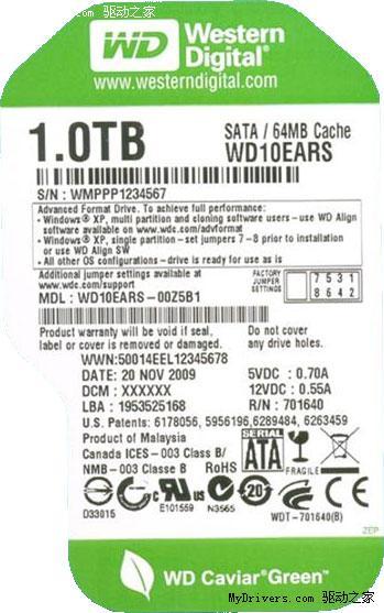 S11203070 - 硬盘新变革开始 详解西部数据4KB扇区技术