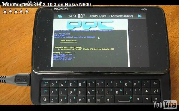 诺基亚N900成功运行完整版Mac OS X 10.3