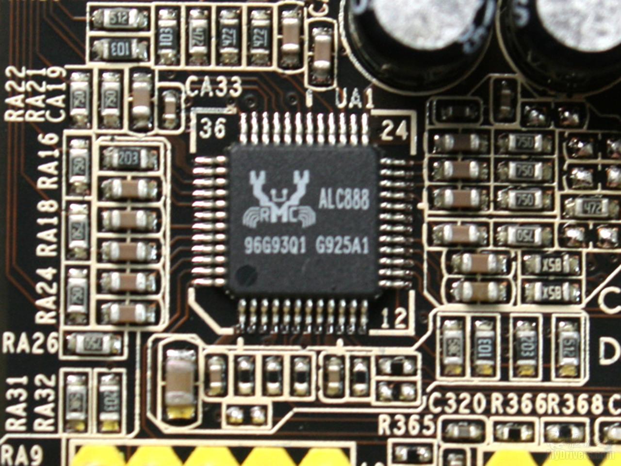 声卡芯片; 2倍铜+易超频 599元昂达h55t魔笛版; 板载realtek alc888 8