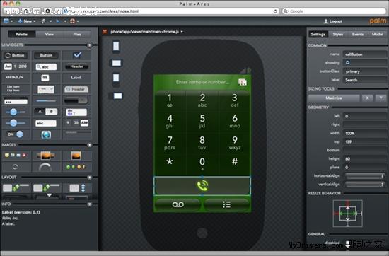 在浏览器上开发应用 Palm发布Ares 1.0