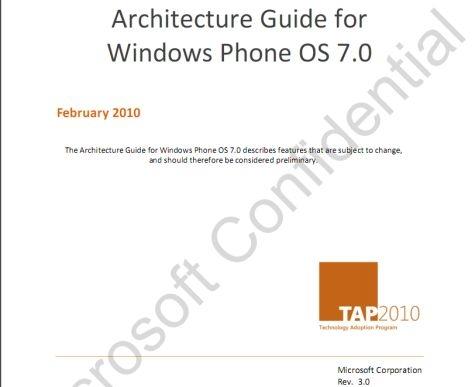 泄露文档揭密Windows Phone 7系统架构的秘密