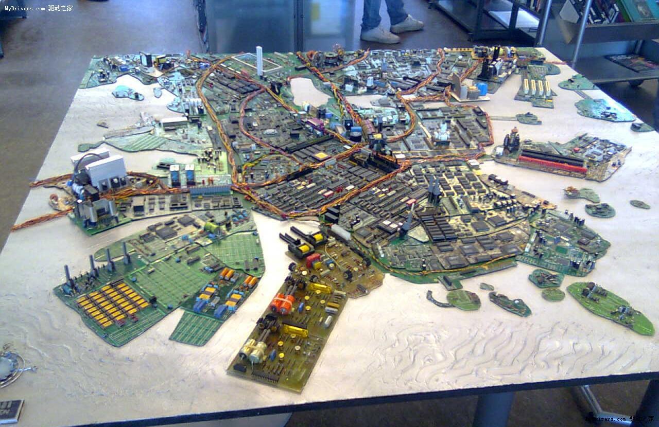 主板拼接赫尔辛基城市模型