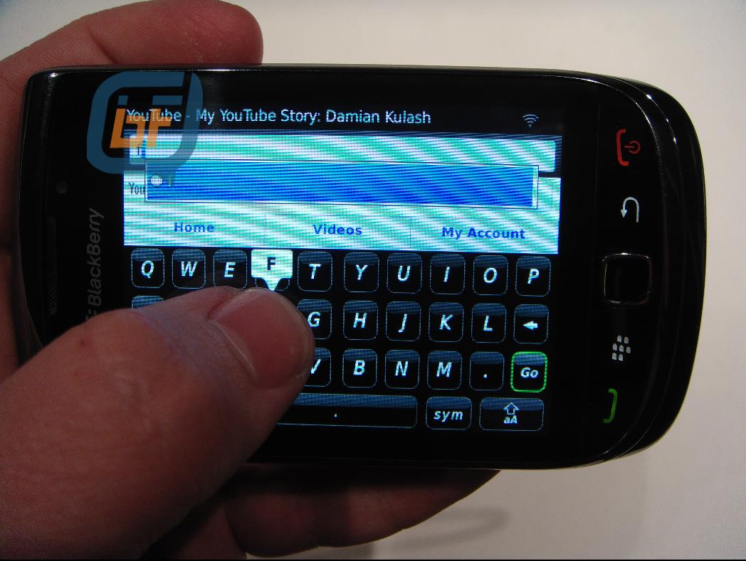 滑盖设计 黑莓bold 9800谍照曝光
