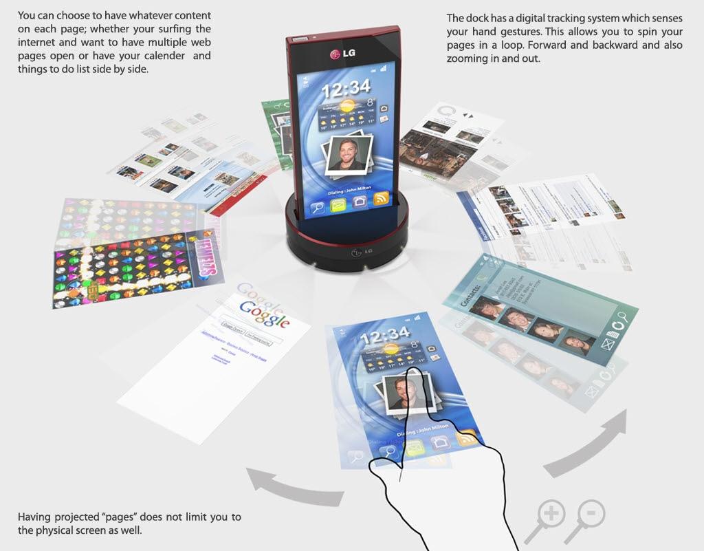超酷回旋镖设计 lg概念手机大赛作品展示