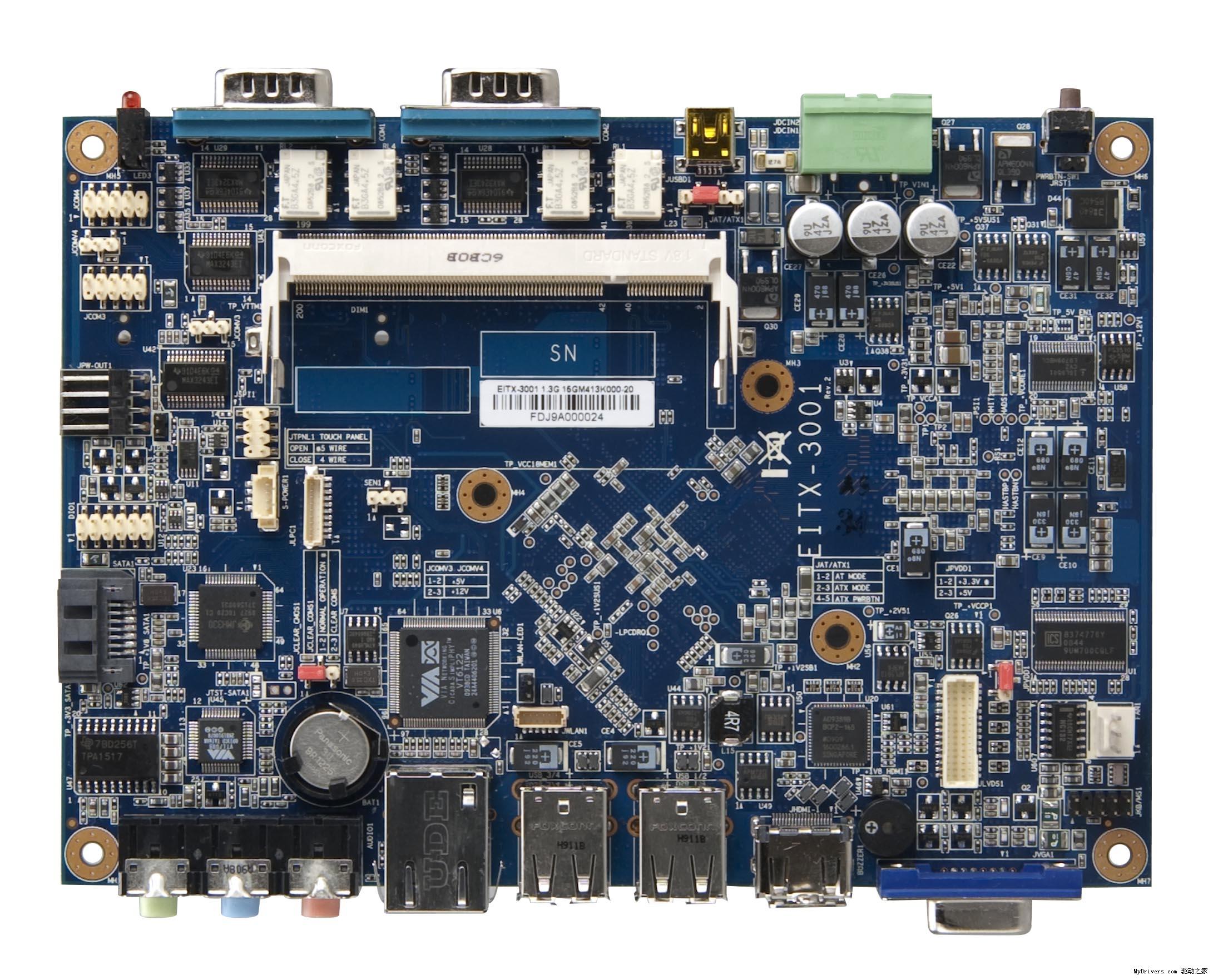 mini-din(支持usb设备),两个com口,电源和硬盘led指示灯,后面板有线性
