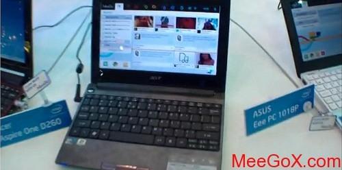 宏碁双系统上网本D260将预装MeeGo