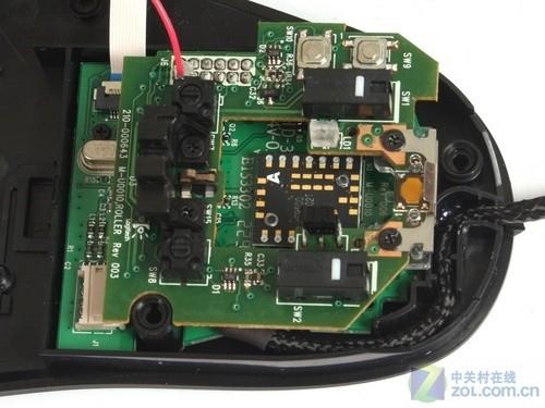 罗技 g500游戏鼠标的pcb板