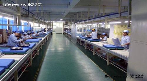 内置的LCD面板由三星公司生产,图像改变频率为100hz。_lcd液晶生产车间