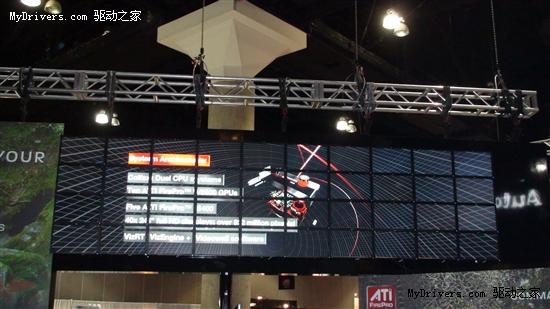 AMD展示10卡40屏系统 总像素近1亿