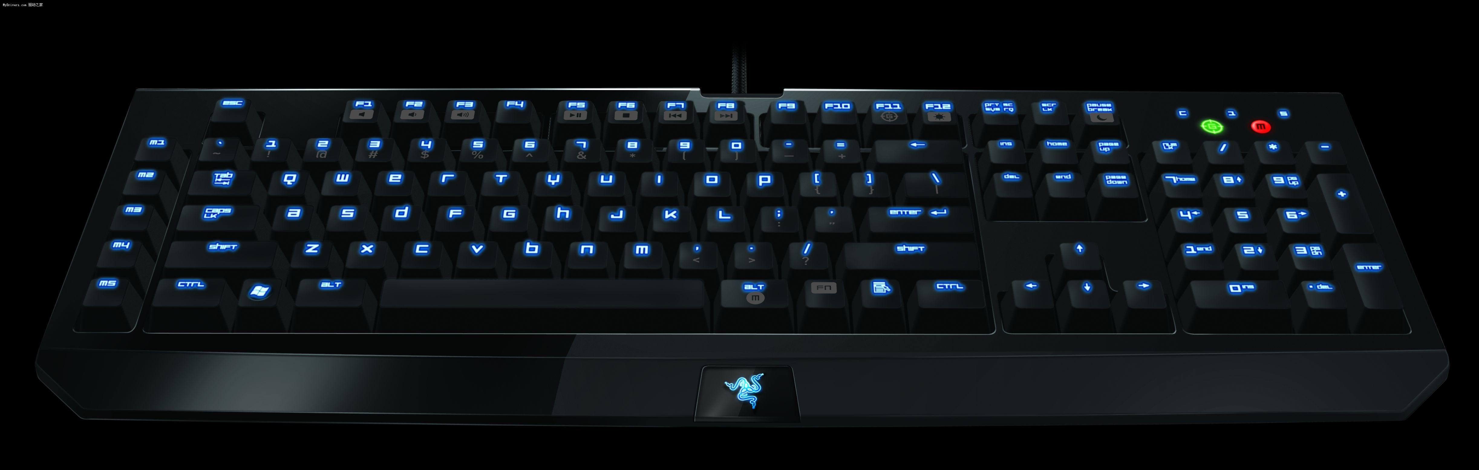 Razer BlackWidow黑寡妇键盘特性: - 机械按键结构,触发速度更快、使用寿命更长 - 完全可编程按键,5个具有飞敏宏录制功能的额外游戏按键 - 10个可自定义配置文件,带有飞敏切换功能 - 1000Hz Ultrapolling高速1ms响应时间 - 为游戏优化的按键矩阵,防止按键冲突 - 简单易用的多媒体按键 - 游戏模式(禁用Windows键) - 产品尺寸:475x171x30mm - 重量:1.
