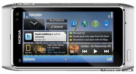 开启Symbian 3时代 诺基亚N8今日起出货