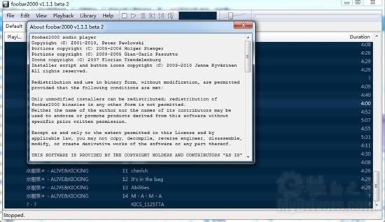 Foobar2000发新版 完美支持Win7媒体库