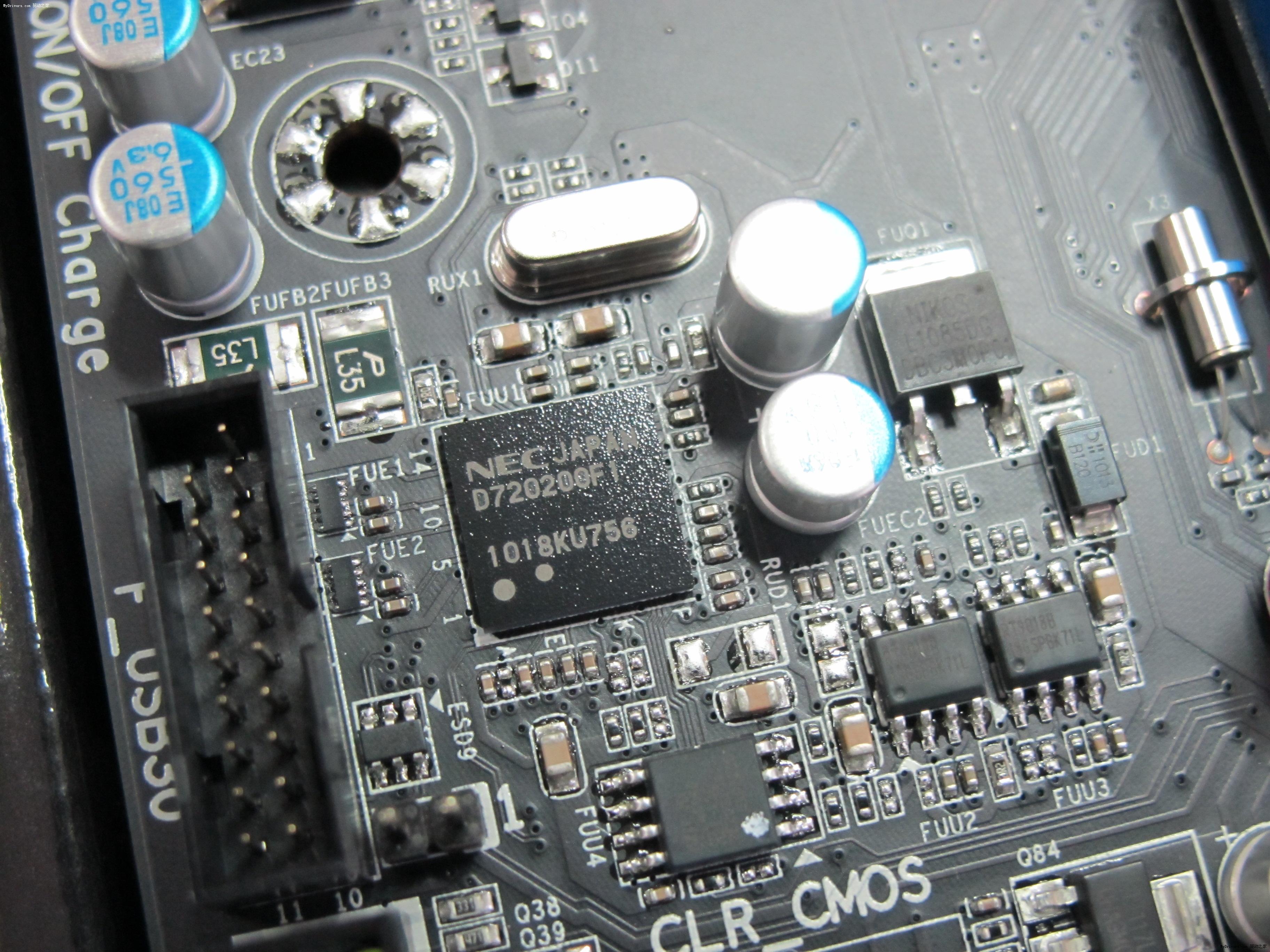 主板集成了2颗nec usb3.0控制芯片