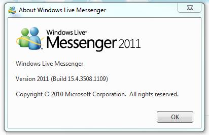 Windows Live Messenger 2011等版本升级