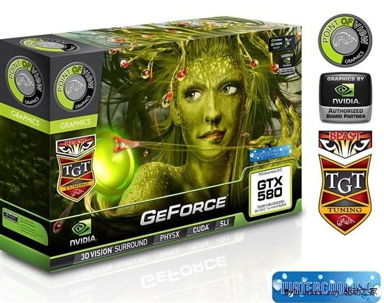 水冷+超高频:PoV/TGT发布野兽版GTX 580