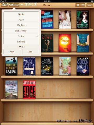 苹果iBooks电子书软件更新