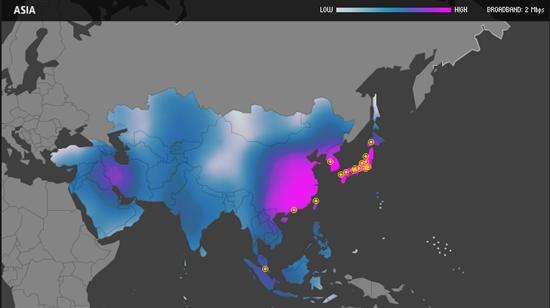 全球100个网速最快城市亚洲超过三分之二