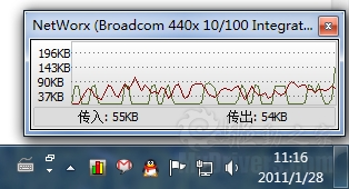 下载:轻量级网络监视器NetWorx 5.1.6
