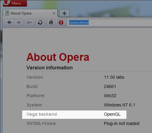 Opera 11.50测试版:支持WebGL和硬件加速