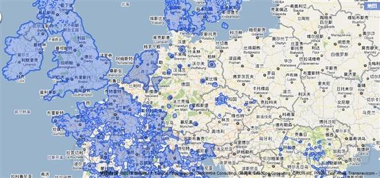 地图_google街景; google街景服务撤出德国 附谷歌街景全球分布图_最