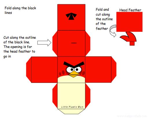动手自做《愤怒的小鸟》纸模