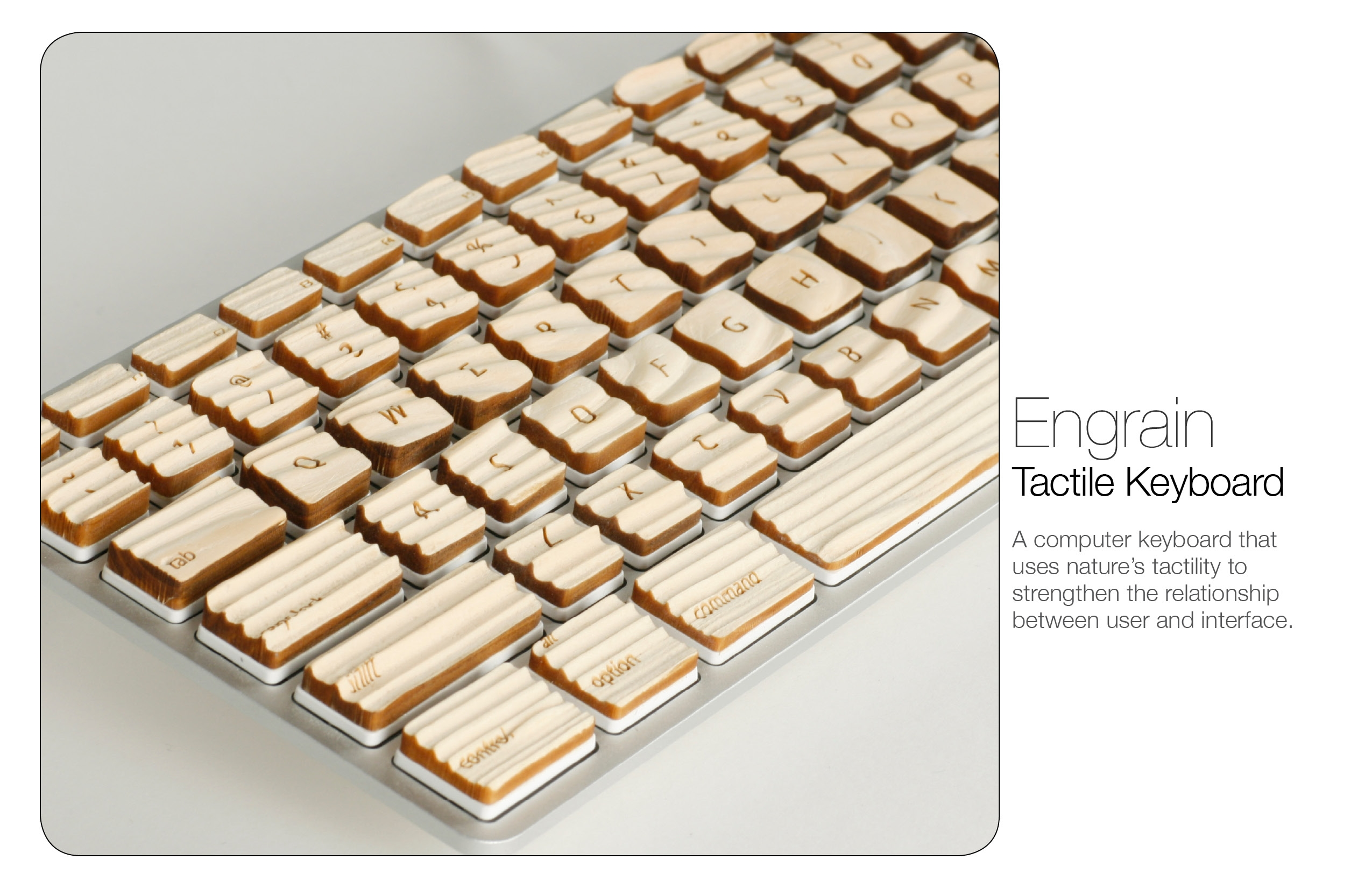 木质纹理键盘engrain;