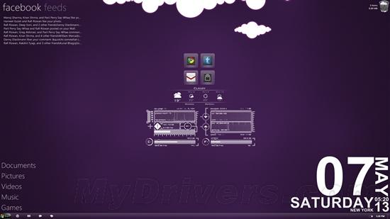 打造浪漫的紫色系Windows桌面