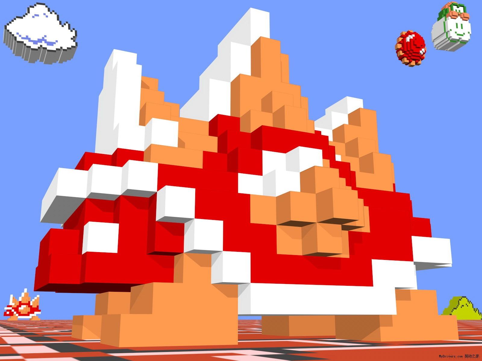 令人拍案叫绝的任天堂8位机游戏3d像素图
