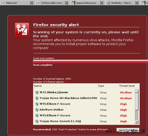 恐吓软件盯上Firefox