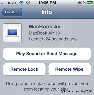 Mac OS X Lion展用Find My Mac备盗