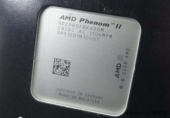 发布月余 AMD顶级四核Phenom II X4 980终于上市
