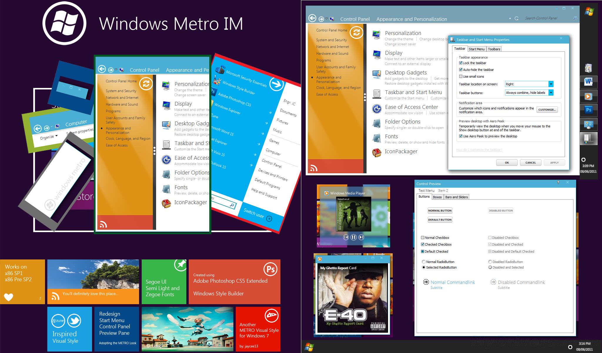操作系统 > 第三方win7主题下载:windows