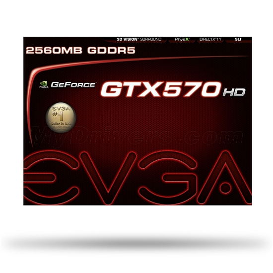 EVGA也发2.5GB显存版GeForce GTX 570