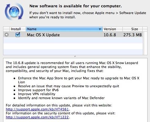 等待Lion 苹果Mac OS X升级10.6.8