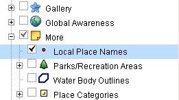 Google Earth能以当地语言显示当地地名了