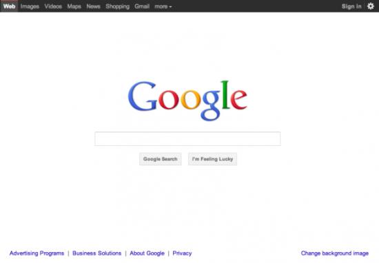 Google主页将改版 采用黑色置顶导航栏