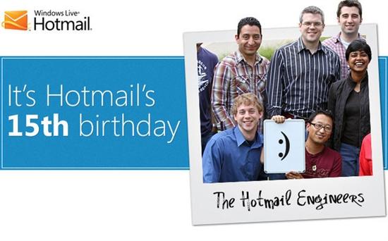 岁月催人老 微软Hotmail已经15岁了