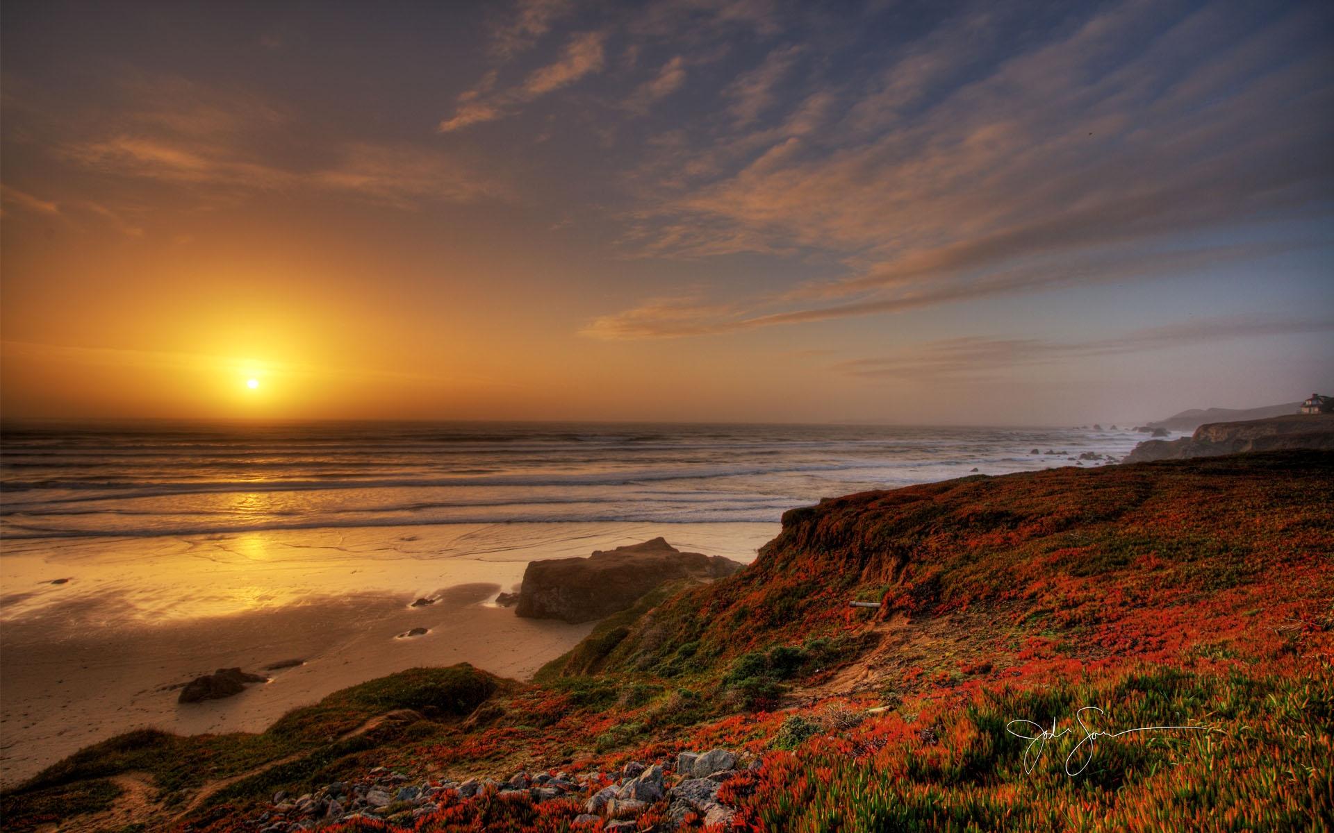 微信头像夕阳海边背影