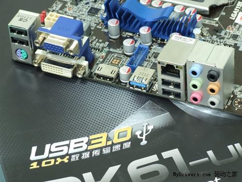 豪华大板前置USB3!狙击手H61绝杀499!