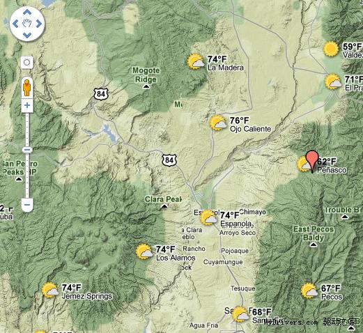 google地图中新增天气图层