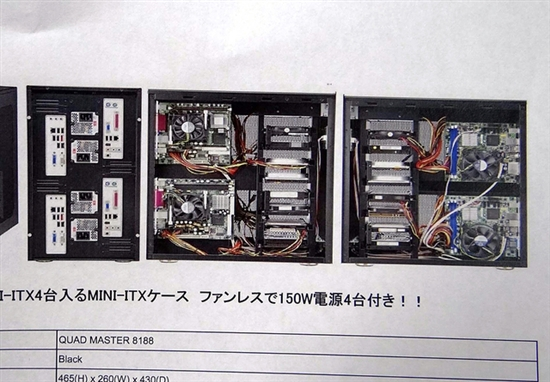 有容乃大:atx机箱竟可装下四块迷你主板