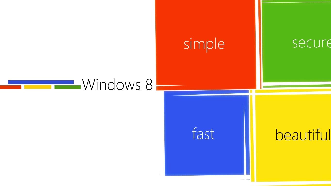Windows纯色壁纸 Windows10笔记本图标纯色 手机锁屏壁纸