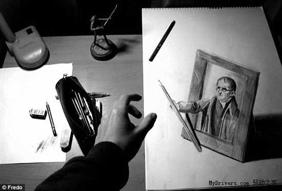 欺骗你的眼睛:以假乱真的3D铅笔绘画
