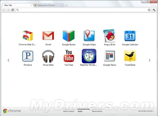 Chrome 15首个Beta登场 新标签页全面改版