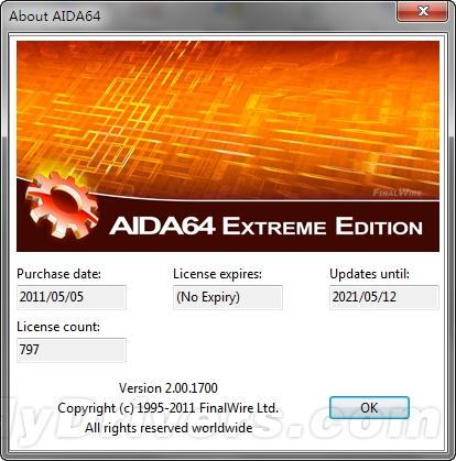 AIDA64 2.00正式版发布 完善支持Sandy Bridge-E