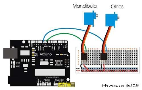 将手柄连接到arduino电路板上时我用了个专用插座.&nbsp