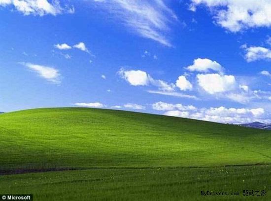 Windows XP桌面:世界上身價第二高的照片